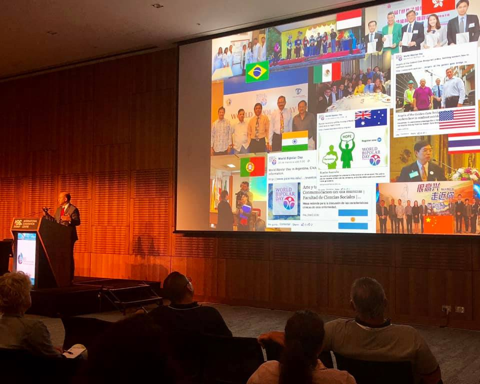 ISBD Immediate Past President Dr. Manuel Sanchez de Carmona presenting WBD information at the ISBD Conference in Sydney Australia